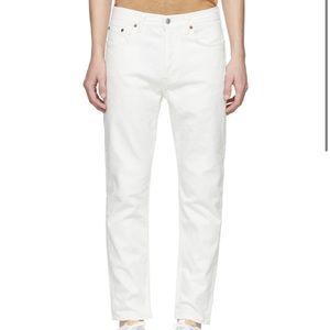 ACNE STUDIOS White Blå Konst River Jeans